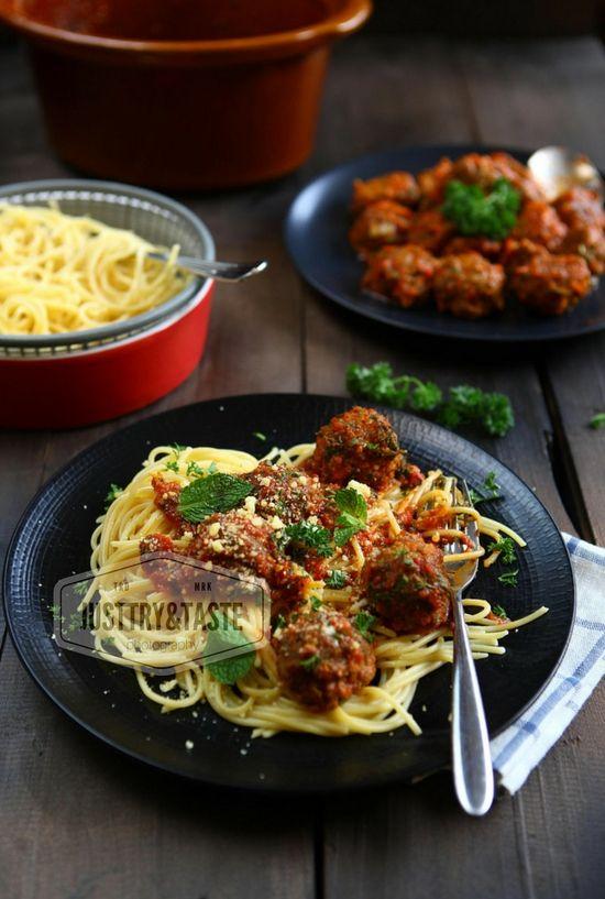 Resep Spaghetti Meatballs Keju Dengan Saus Tomat Homemade Masakan Resep Masakan Resep Makanan