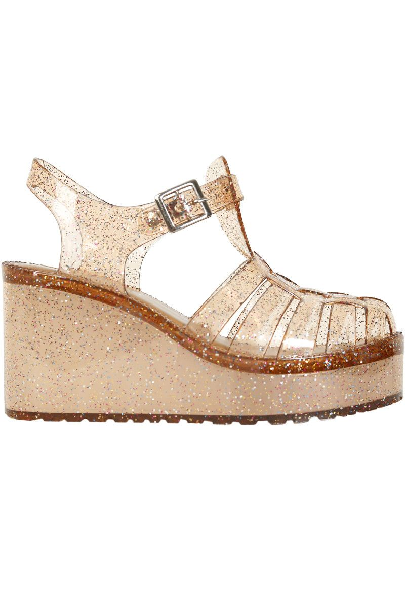 a0f6764928ef3 Melody Glitter Platform Jelly Sandal - Bronze