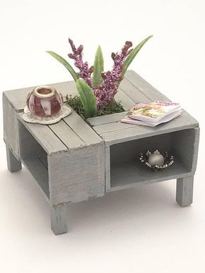 Dollhouse Furniture Miniature Coffee Table Dollhouse Coffee Table