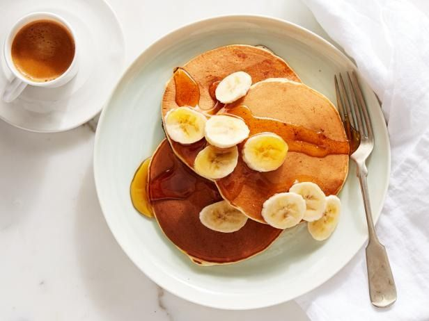 Banana Sour Cream Pancakes Recipe Sour Cream Pancakes Food Network Recipes Best Breakfast Recipes