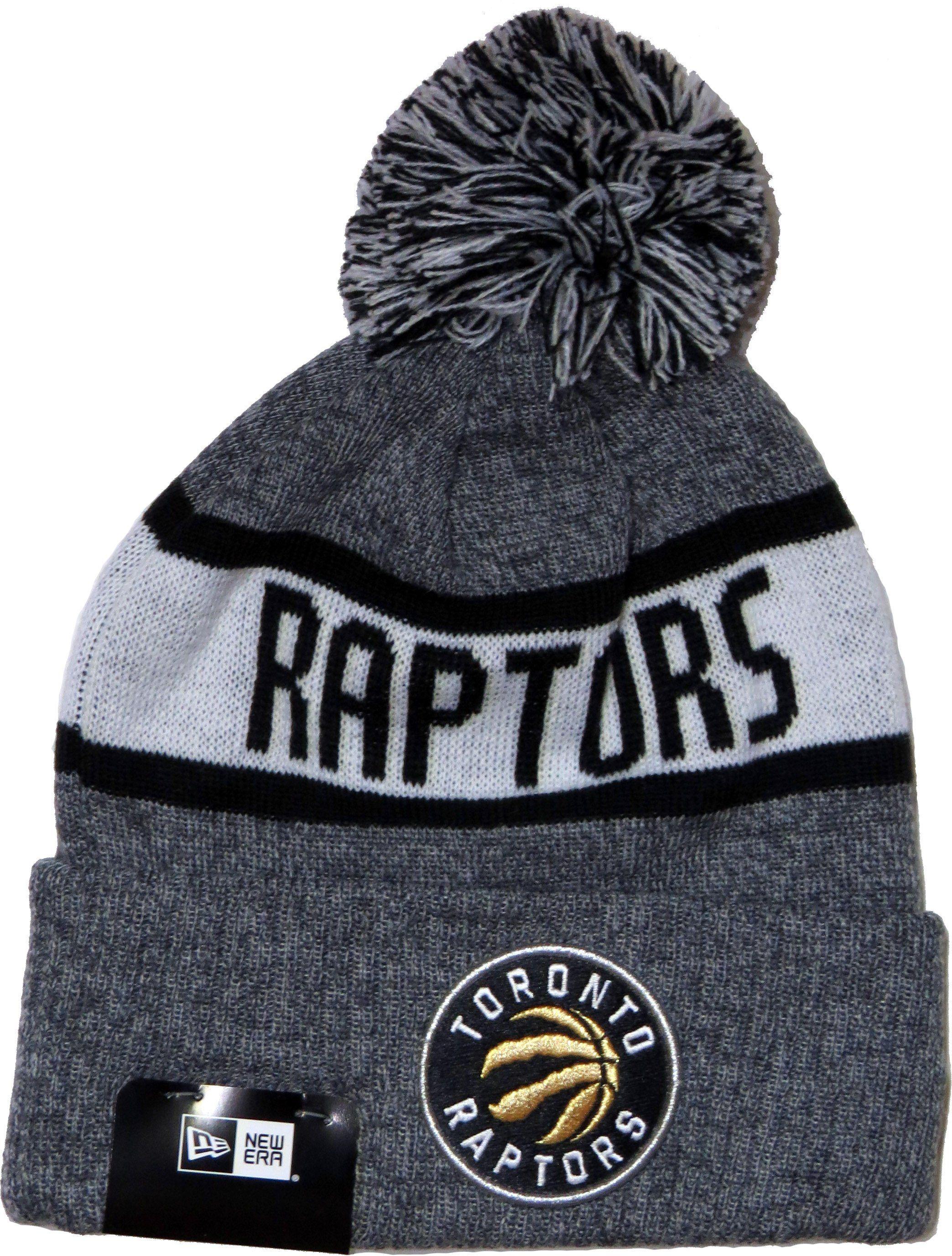 New Era NBA Team 2017 Marl Knit Bobble Hat. Grey with the Toronto Raptors 2f11ef8a683