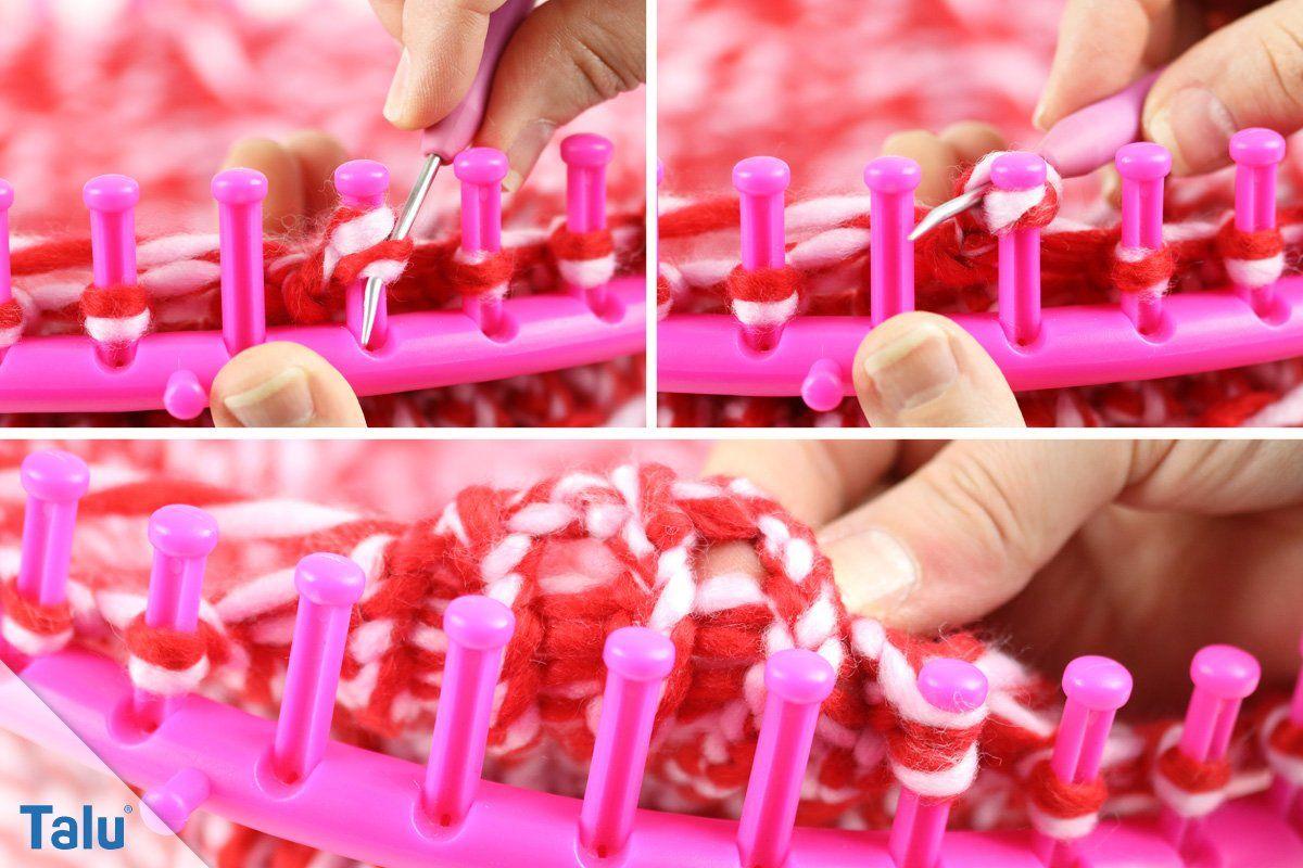 Top Stricken mit Strickrahmen - Anleitung für einen Loop-Schal SU05