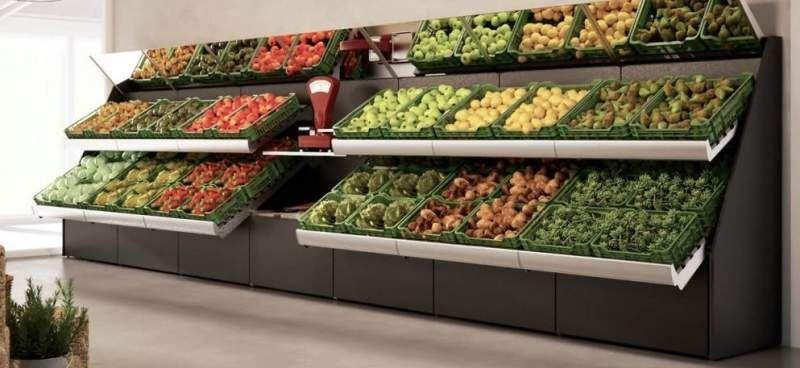 Scaffali Usati Per Negozio Di Frutta E Verdura.Scaffalatura Per Frutta Verdura Lavoro Nel 2019 Verdura