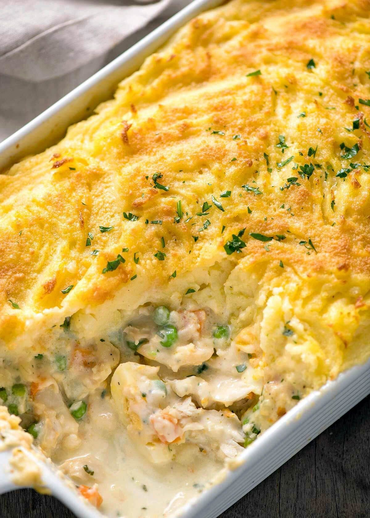 Delish 2 Chainz Mashed Potatoes Recipe Favorite Healthy Recipes Fish Pie Fish Recipes Recipetin Eats