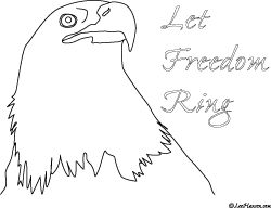 new patriotic bald eagle coloring page let freedom ring leehansencom - American Bald Eagle Coloring Page
