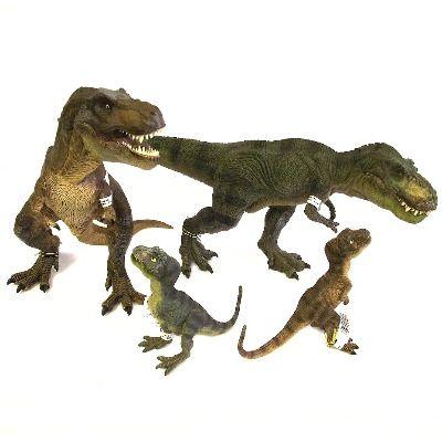 This tyrannosaurus rex family of dinosaur toy figures for T rex family