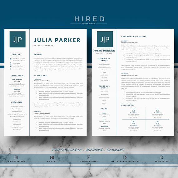 Professional Resume  Cv Templates For Ms Word  Modern Resume Cv
