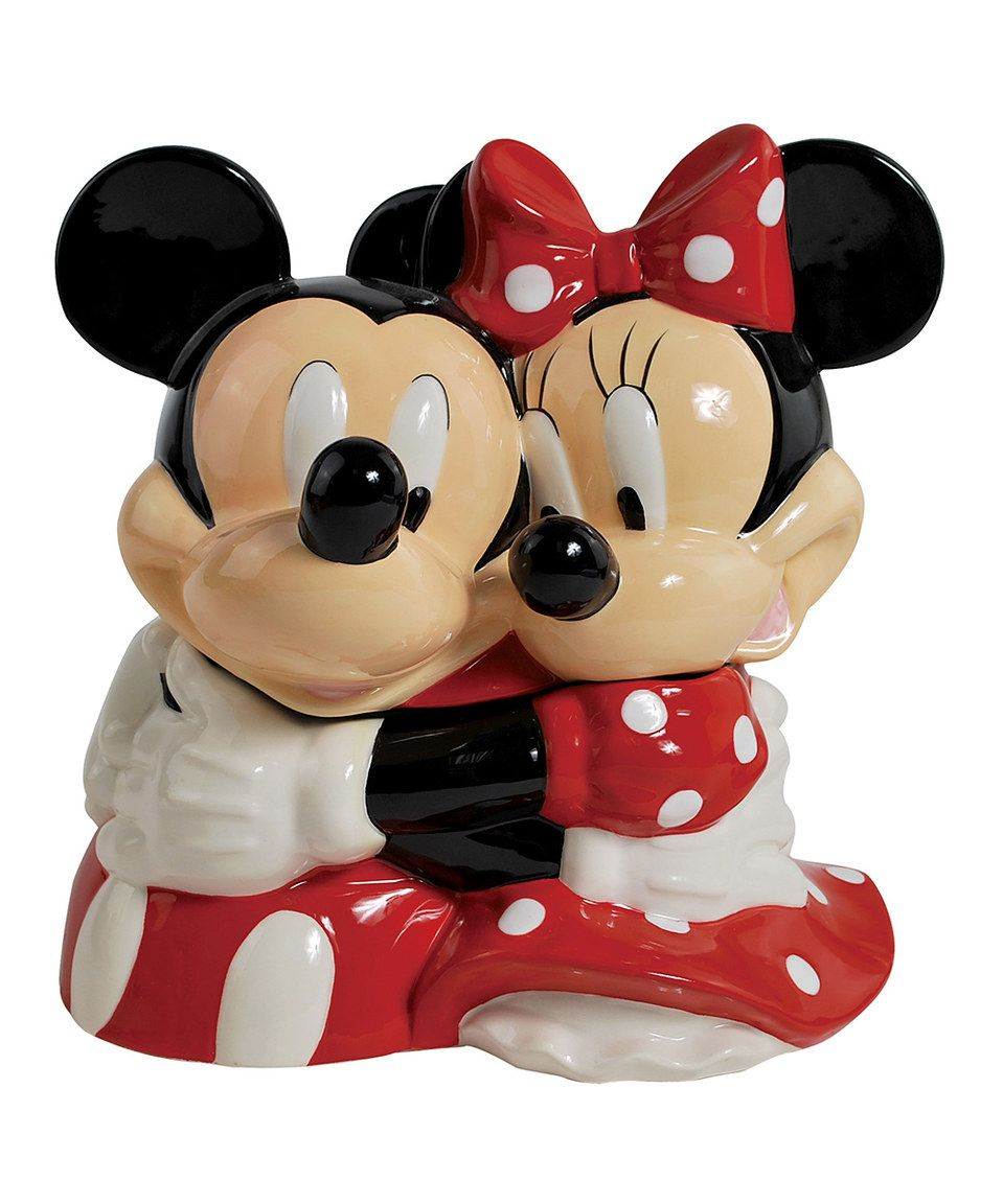 This Hugging Mickey Minnie Cookie Jar by is perfect zulilyfinds