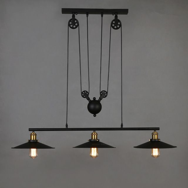 Retro Industrial Vintage Edison Hanging Iron Ceiling Lamp Pendant Light Fixture