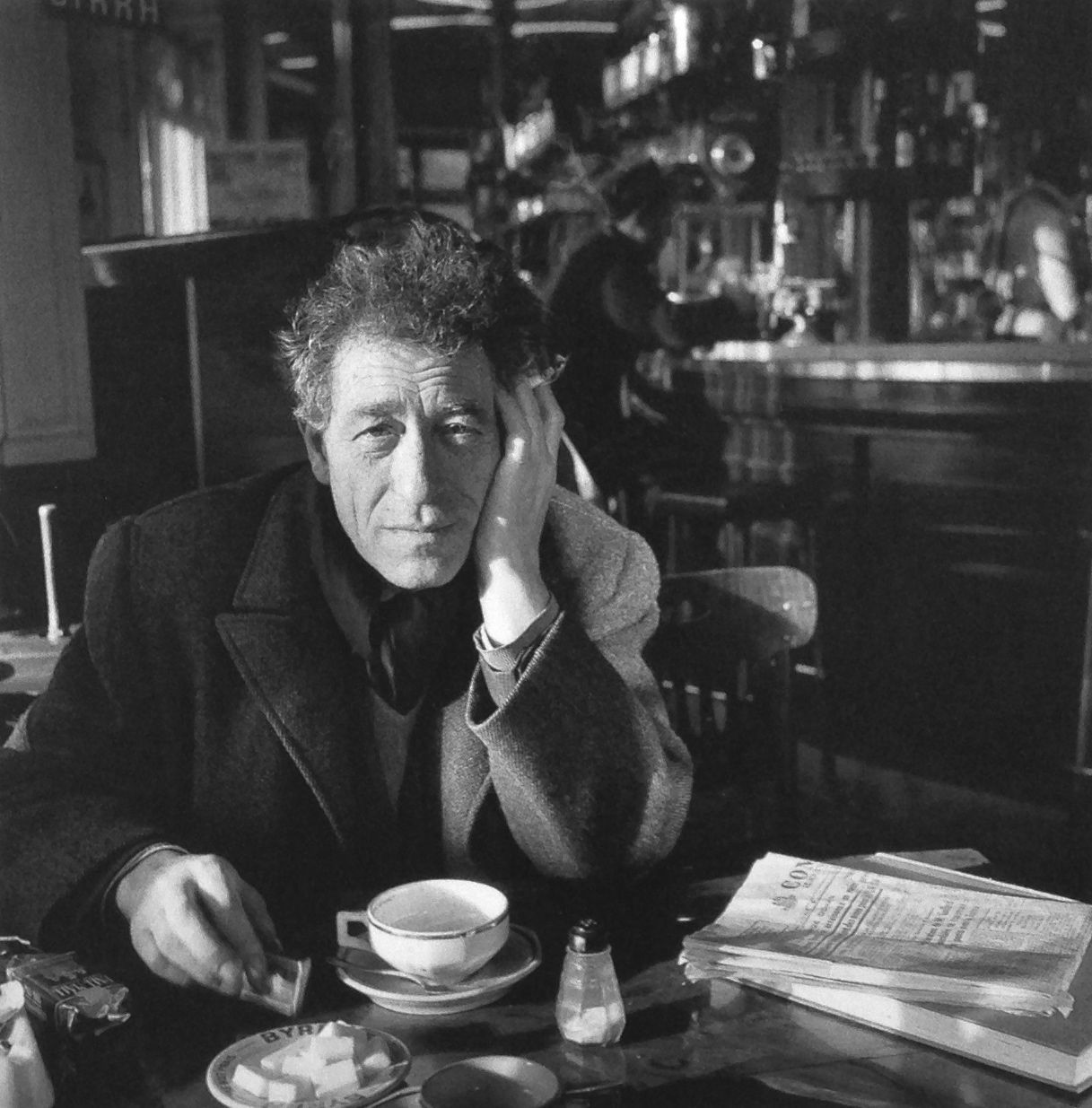 Peintre Giacometti Alberto Giacometti Paris 1958 Photo Robert Doisneau