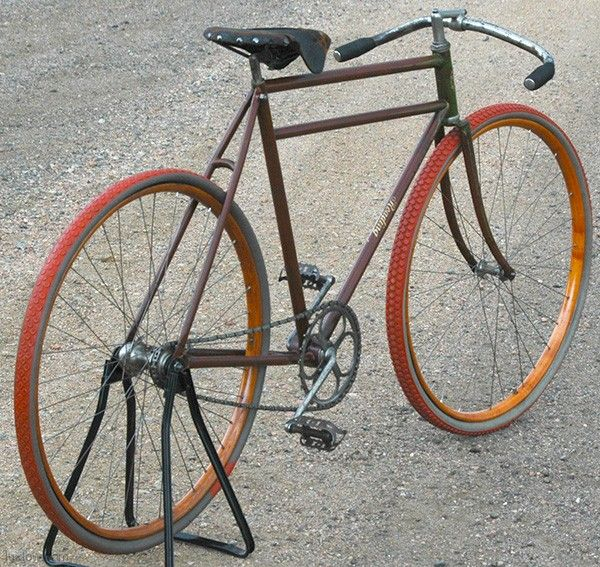 1900s Antique Reading Standard Roadster Wood Wheel Bicycle Antique Bicycles Wooden Bicycle Vintage Bikes