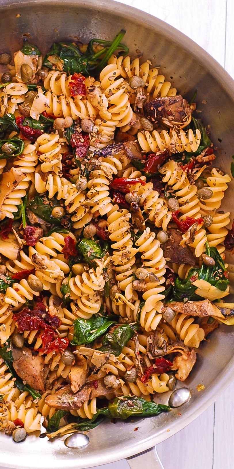 Fusilli Pasta With Veggies And Pine Nuts Best Pasta Dishes Vegetarian Pasta Dishes Fusilli Pasta