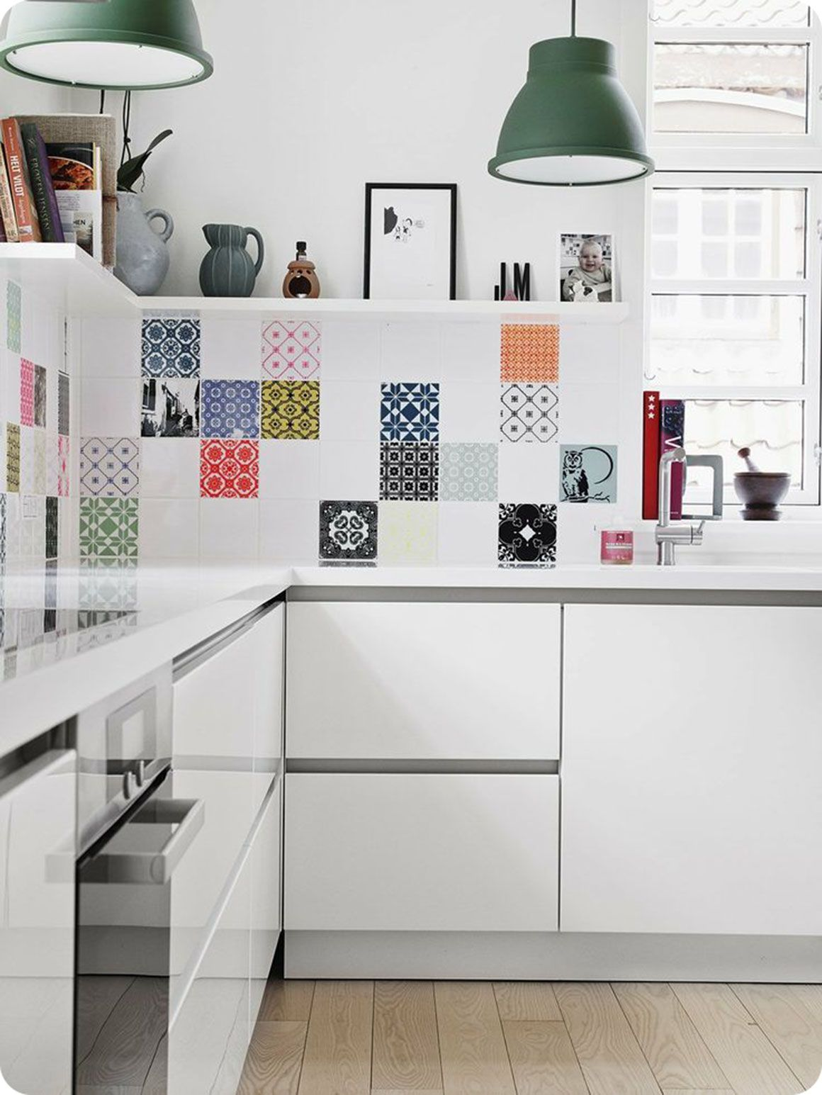 Awesome Bright Tiles Kitchen Cbaarch