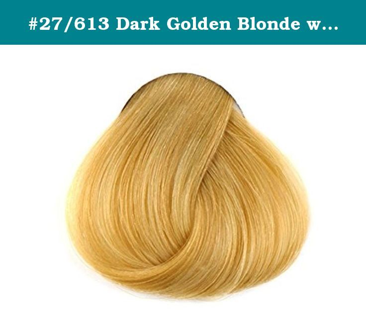 27613 Dark Golden Blonde With Platinum Highlights 6 Inch Sample Of