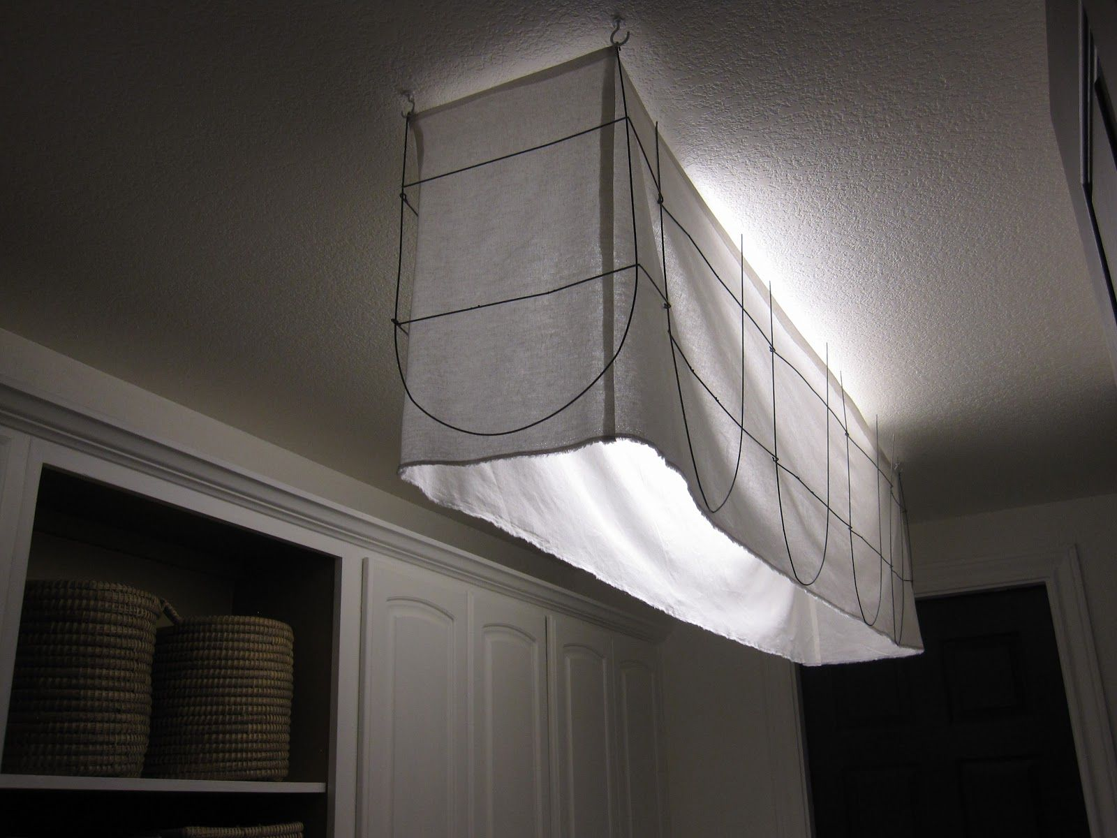 Fabric and metal shade to cover an ugly light fixture apartment fabric and metal shade to cover an ugly light fixture mozeypictures Images