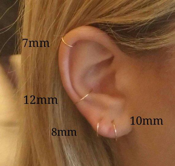 Hoop Earrings Gold Hoops Sterling Silver Hoop Silver Hoops Etsy Tiny Hoop Earrings Cartilage Earrings Hoop Hoop Earrings Small