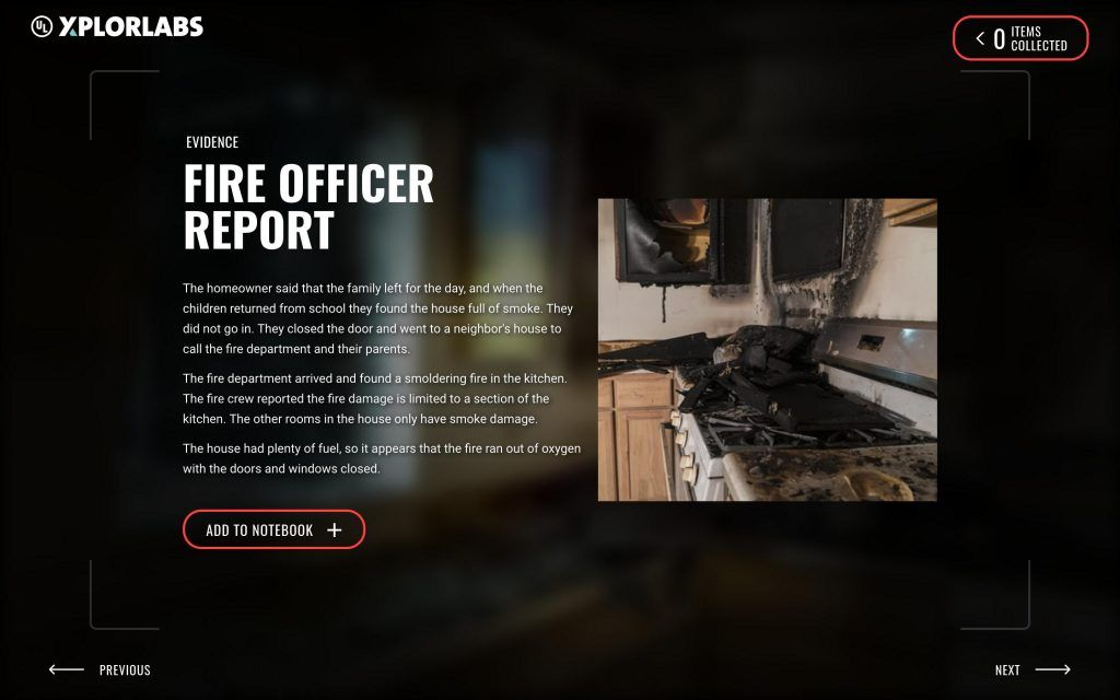Fire Forensics Claims and Evidence UL XPLORLABS in 2020