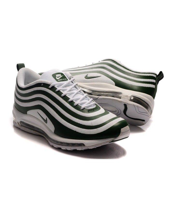 Nike Air Max Verde 97 Hombres Zapatos Blanco Verde Max Formadores S H O E S 2d8fbf