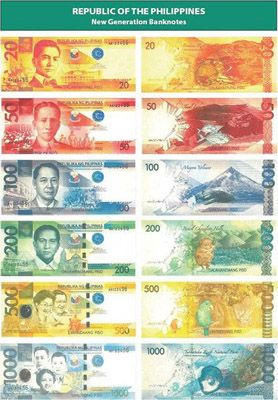 Filipino Peso Philippine Peso Bank Notes