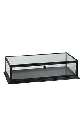 Black Countertop Wood Display Case Countertop Display Case
