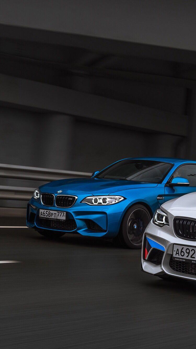 BMW M2 Long Beach Blue Metallic vs Alpine White