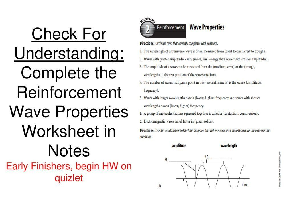 Properties Of Waves Worksheet Answers Changes In Waves Essential Question Ppt In 2020 Worksheets Answers Essential Questions