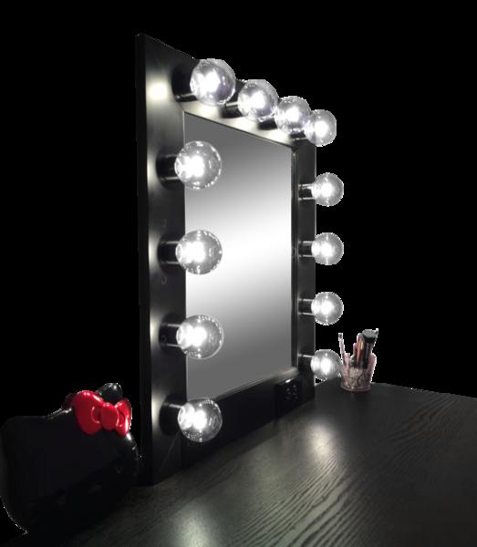 The Hollywood Vanity Makeup Mirror Matte Black Diy