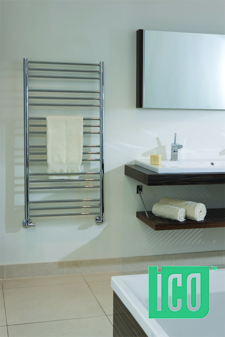 Enjoy the minimalist look of Sorano by Tuzio–our heated towel rack ...