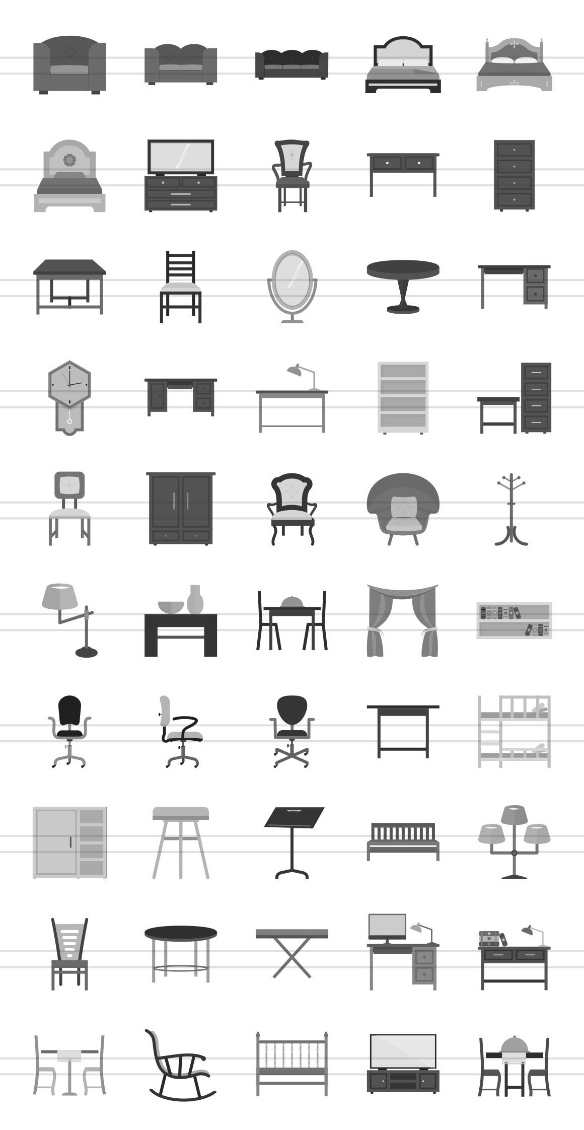 50 Furniture Greyscale Icons Greyscale Design Model Homes