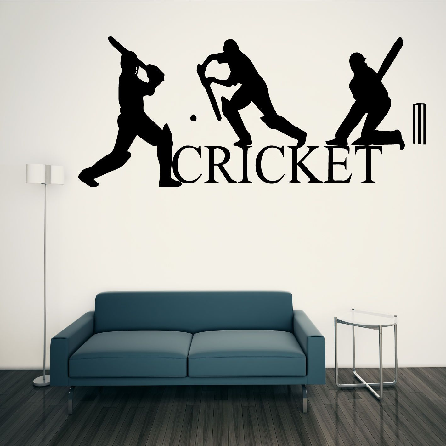 CRICKET WALL ART STICKER SPORT CRICKETERS GRAPHICS TRANSFER In Home,  Furniture U0026 DIY, Home Good Looking