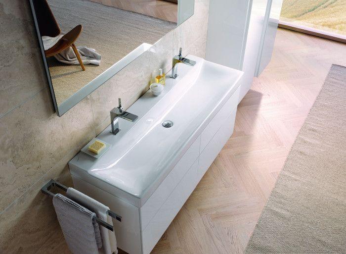 Badmeubel serie Sphinx 420 met vlakke wastafel voor twee personen ...