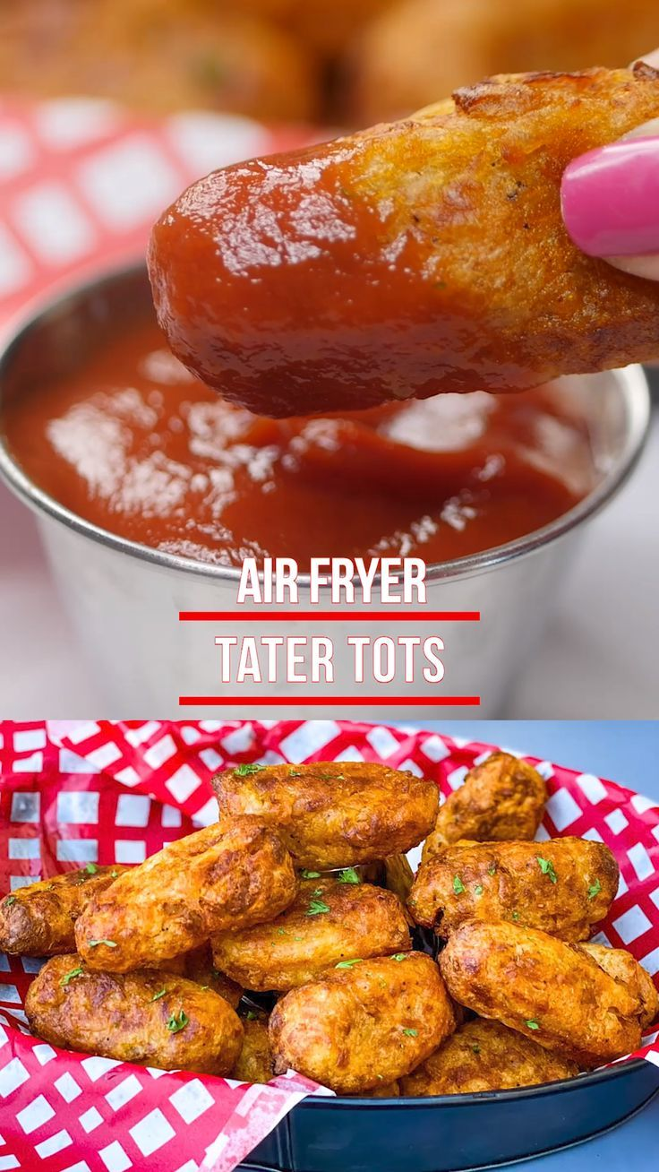 Air Fryer Tater Tots + {VIDEO} in 2020 Tater tot