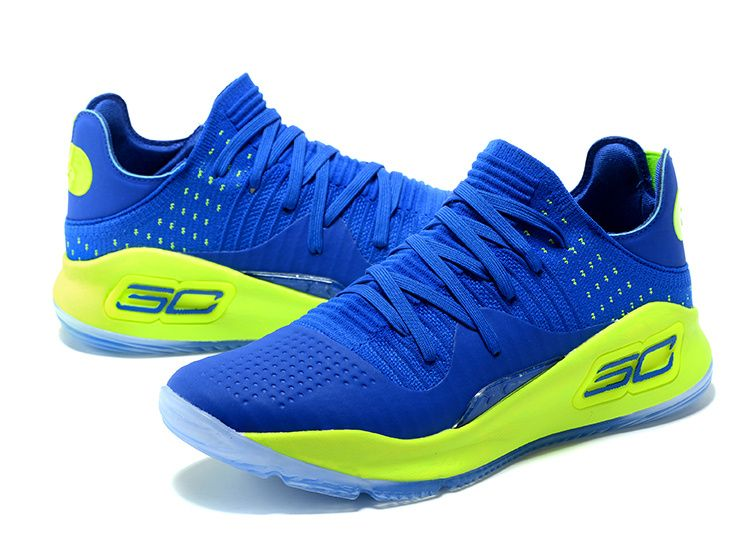 219edd0922f 2017-2018 Sale UA Curry 4 Low Game Royal Lime Green
