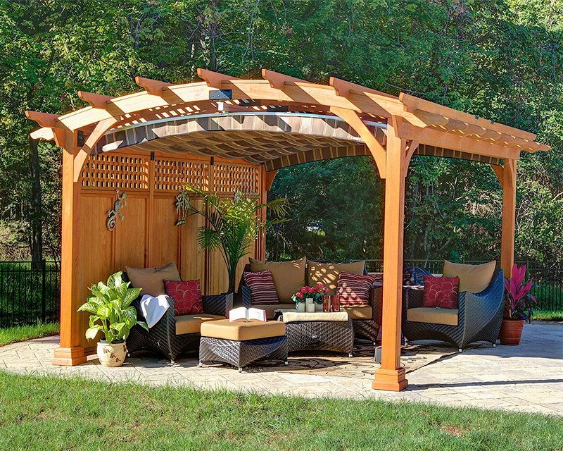 This Beautiful Pergola Is Made Out Of Wood And The Structure Presents An  Interesting View.