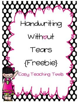Handwriting without Tears Paper {FREEBIE} | Hand