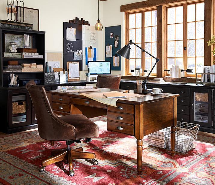 Elegant Home Office   Pottery Barn