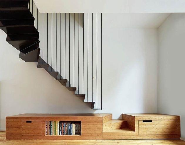 Afbeeldingsresultaat voor betonnen trap met houten leuning