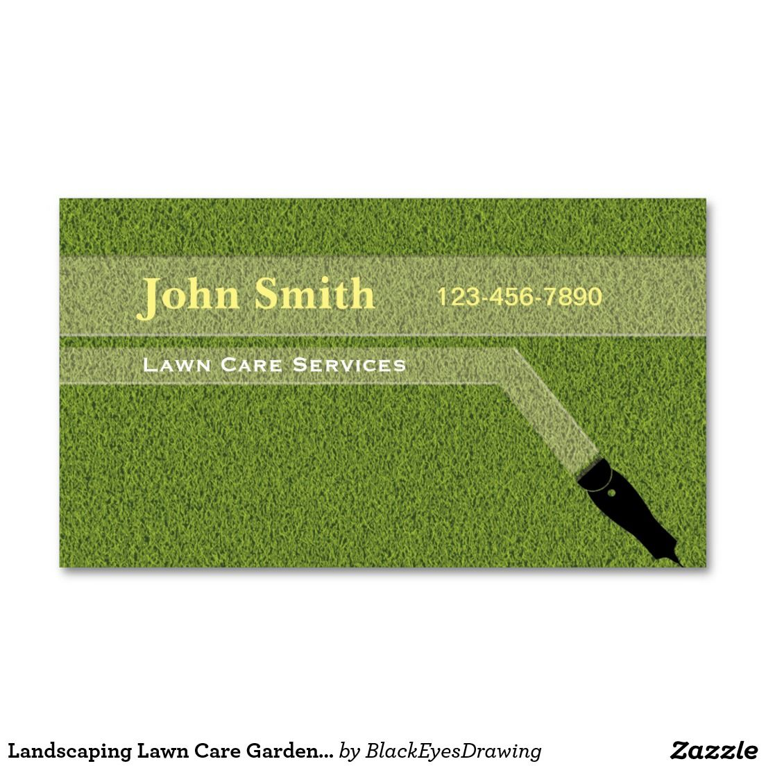 Landscaping Lawn Care Gardening Grass Cutting Business Card   Lawn ...