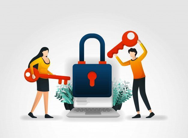 finance poster finance poster People hold key and open the lock  Premium Vector