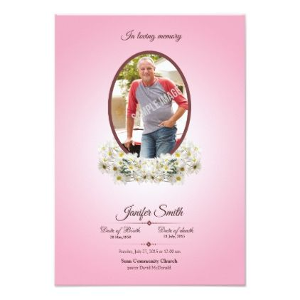 Memorial Funeral Program Card Template  Card Templates Funeral