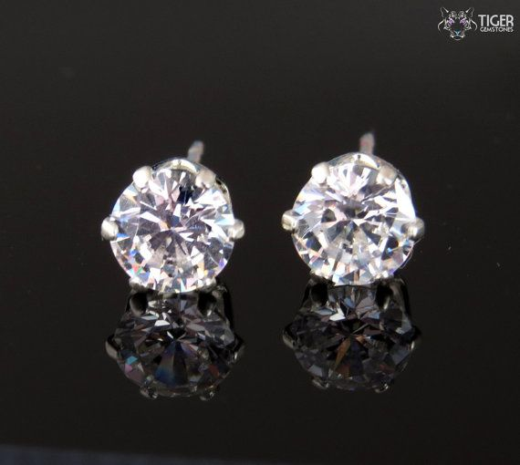 1 Ctw 6 G Stud Earrings Round Flawless By Tigergemstones