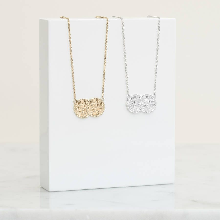 Double Coin Necklace For Prosperity | sterling silver, gold, rose gold, unique jewellery, gift ideas, gifts for her, jewellery, jewelry