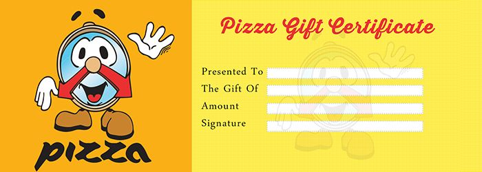 Pizza Gift Certificate Template Free Gift Certificate Template