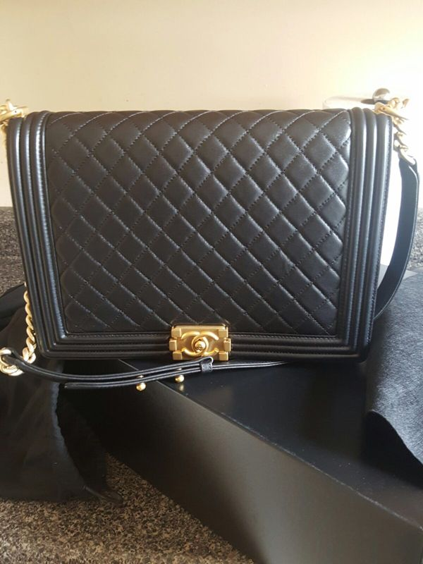 433b7e33c18e Chanel LeBoy Large Black Lambskin with Gold Hardware | Luxurysnob ...