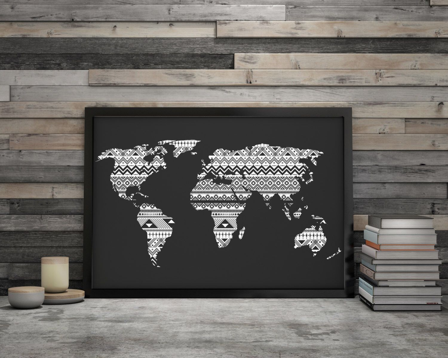 World Map Poster Large Black And White Wall Art World Map Download - World map poster large download