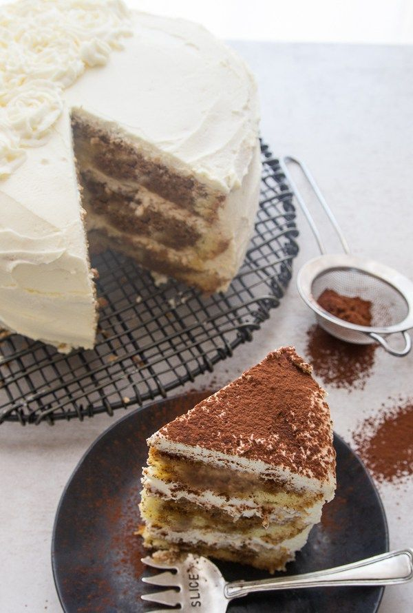tiramisu layer cake with a slice cut and on a plate & tiramisu layer cake with a slice cut and on a plate | Birthday Cakes ...