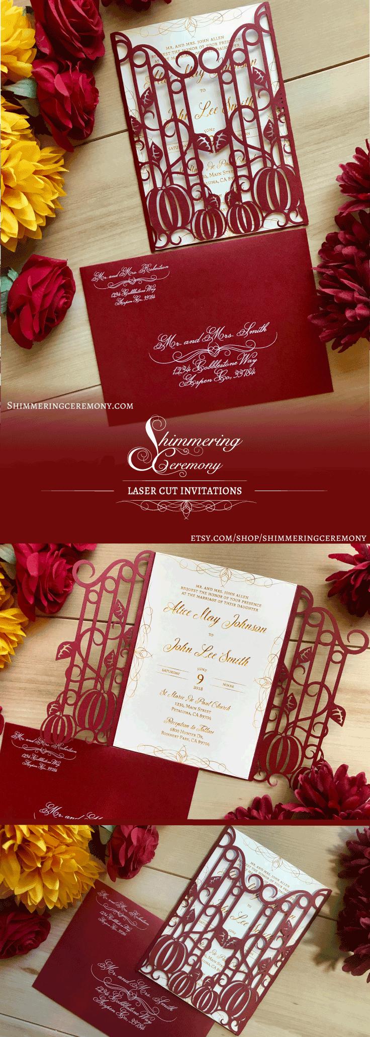 Pumpkin Iron Gate Invitation | Iron gates, Gate and Simple wedding ...