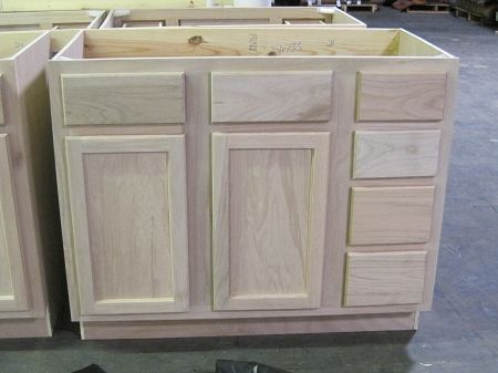 Vanity Sink Base 42Unfinished Oakkitchen  Cabinets  Vanities Fascinating Kitchen Cabinet Sink Base Inspiration