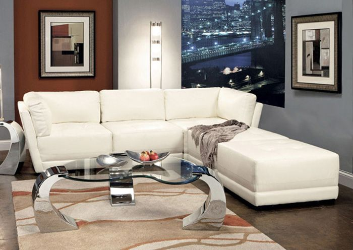 Jerusalem Furniture | Philadelphia PA | Furnish 123 White Bonded Leather Modular Sectional : jennifer convertible sectional - Sectionals, Sofas & Couches