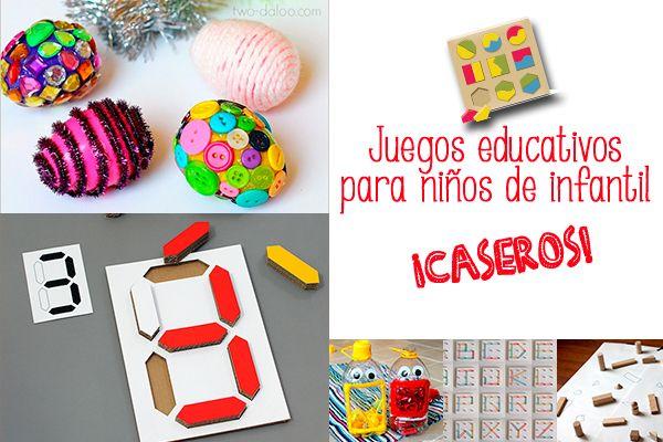 Juegos educativos caseros para ni os de infantil ideas - Trabajos manuales de navidad para ninos de primaria ...